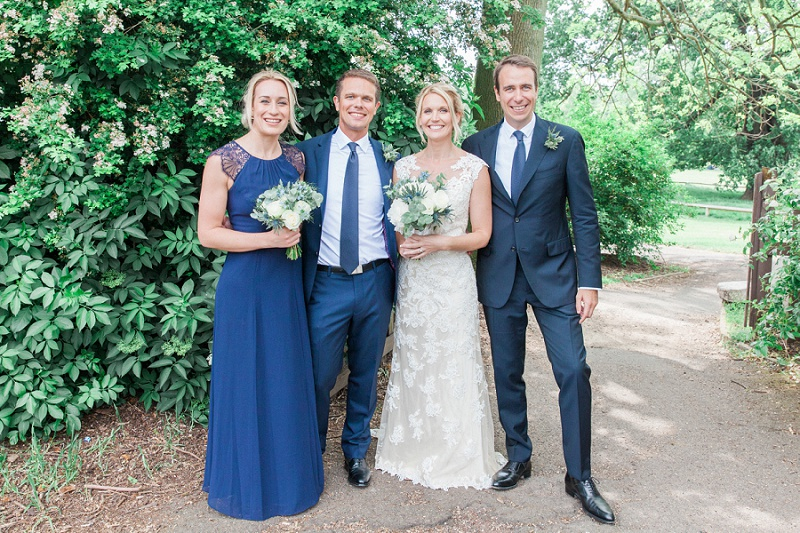 Bridal Party in Navy and White at Belair House