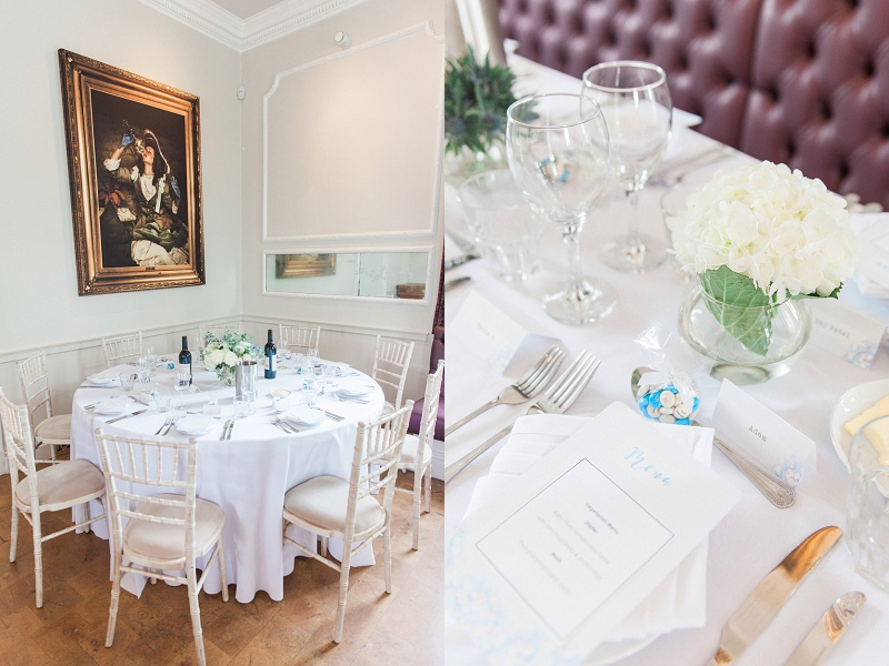 Blue and White Details at Belair House Wedding