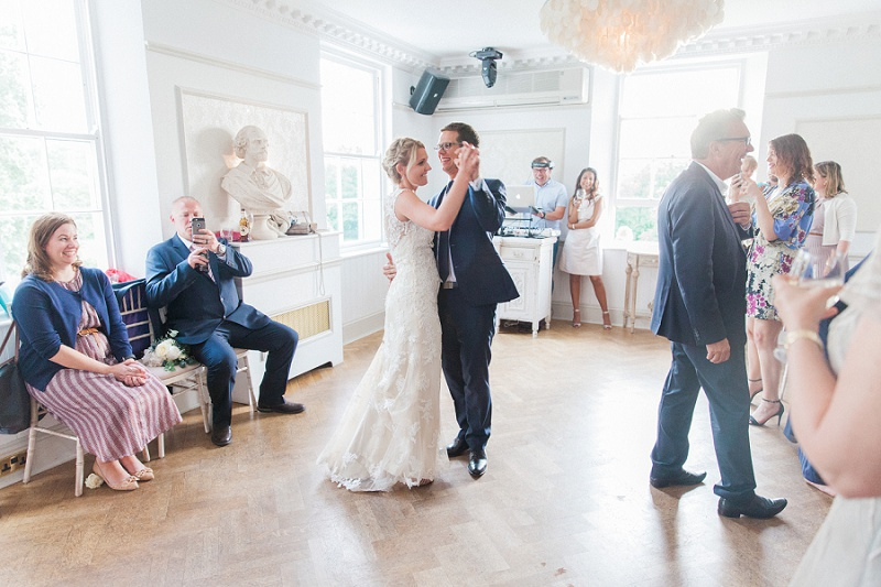 Bride and Groom During Thier First Dance at Belair House