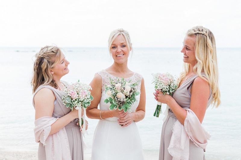 Bride and Bridesmaids on the Beach at Agios Nikitas Lefkada