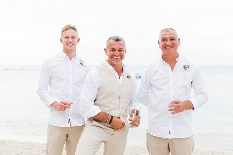 Groom and His Groomsmen on Agios Nikitas Beach