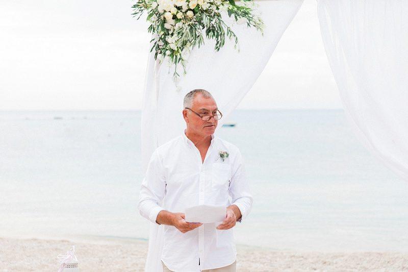 Best Man During His Speech on Agios Nikitas Beach