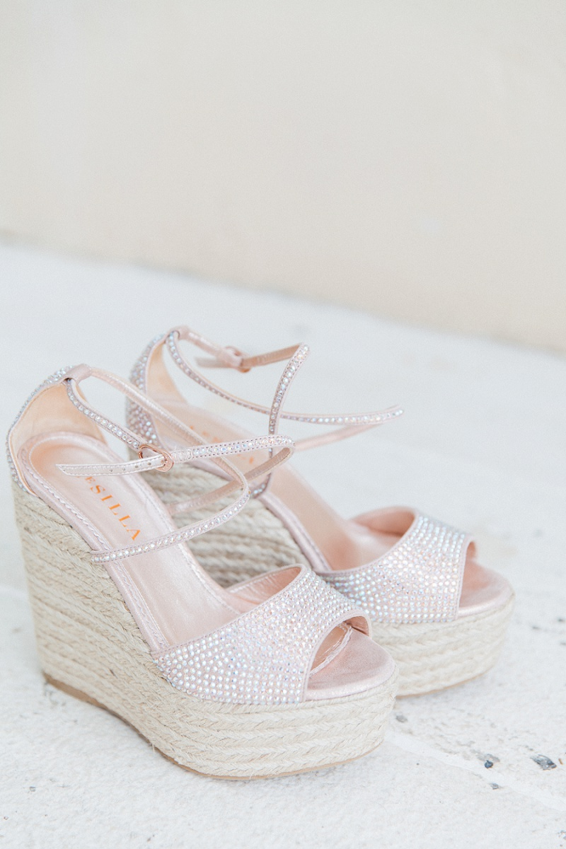 Brides Blush and Sparkled Le Silla Platforms