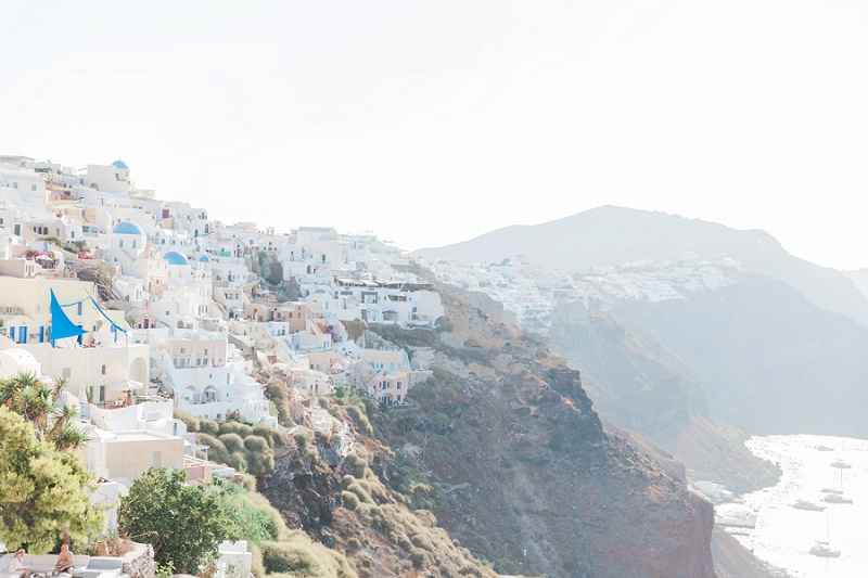 The Village of Oia on the Cliffs of Santorini