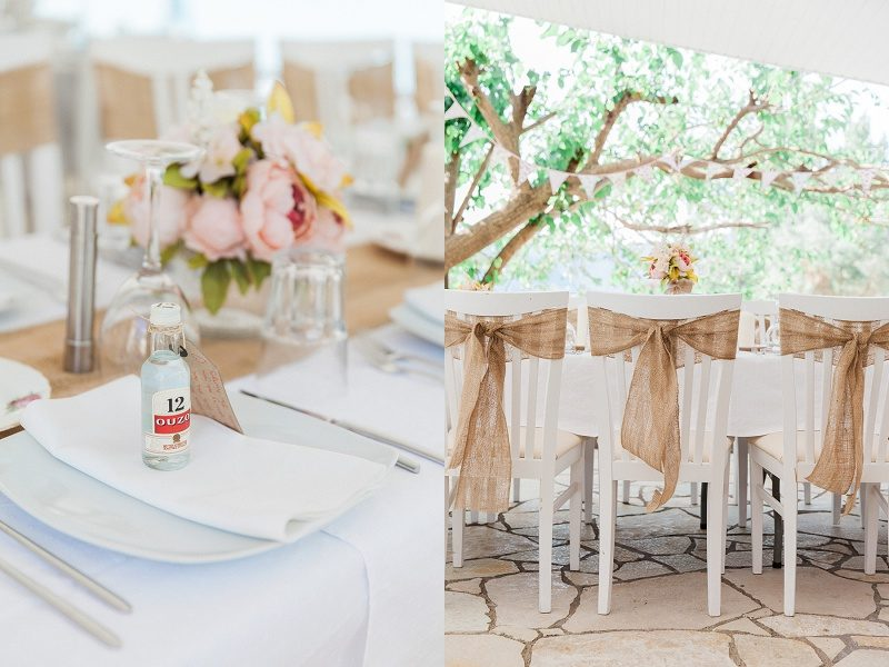 Ouzo Favours and Rustic Tie-Backs at this Intimate Vintage Wedding