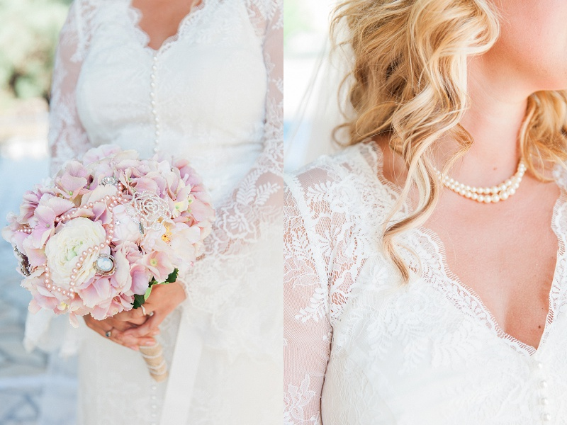 Brides Beautiful Floral Details