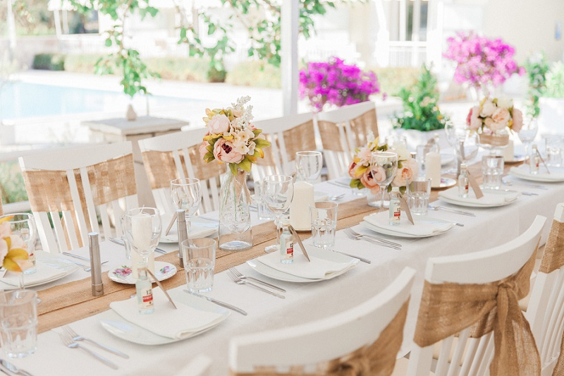 Vintage Wedding Tablescape in Greece