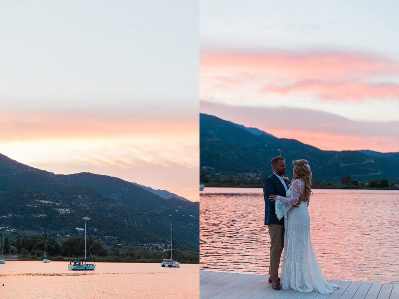 Couple Dancing on the Jetty at their Vintage Wedding at SeaSide Restaurant