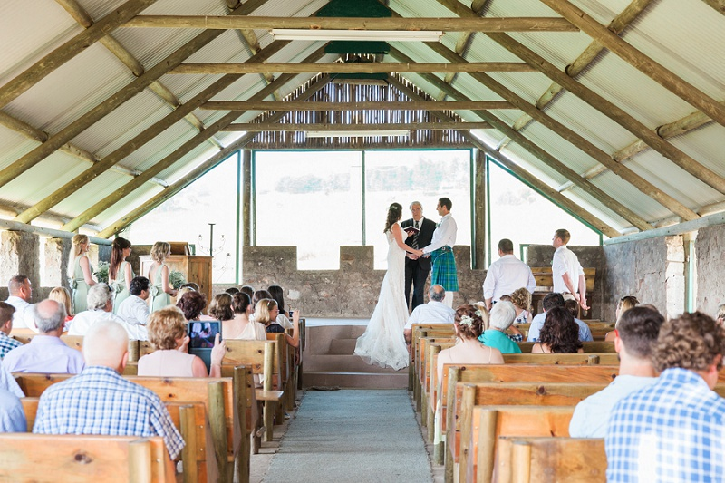 Bride and Groom in the Chaple at Lake Eland Game Reserve