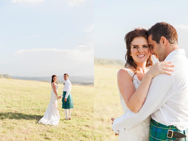 Bridal Portraits on the Hills at Lake Eland Game Reserve