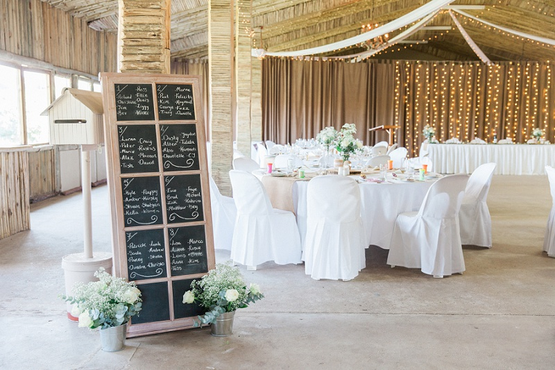 Table Plan for Pistachio and White Wedding at Lake Eland Game Reserve