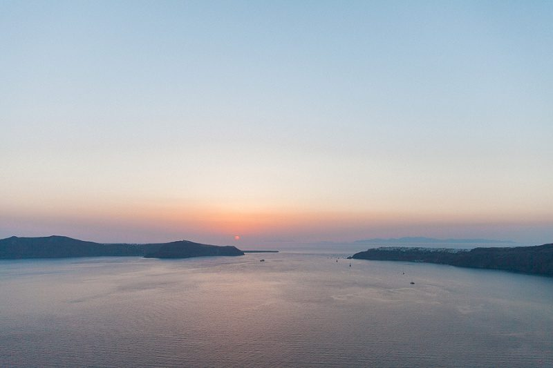 View of the Sunset from Santorini