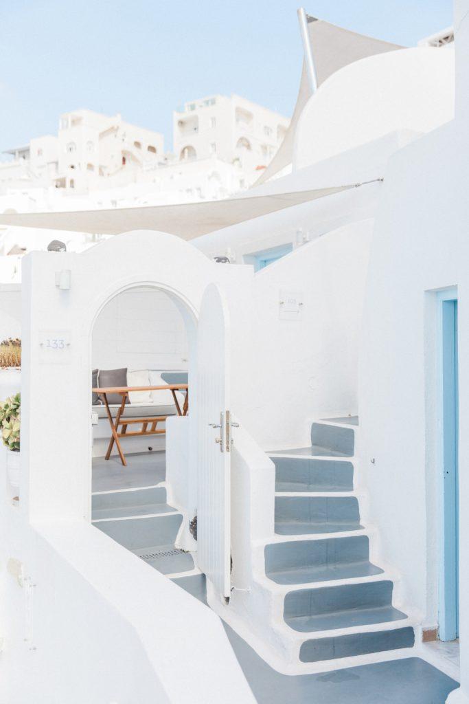 Stairways and doors at Dana Villas Santorini