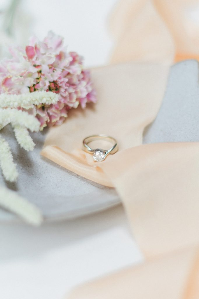 Classic diamond engagement ring set in white gold