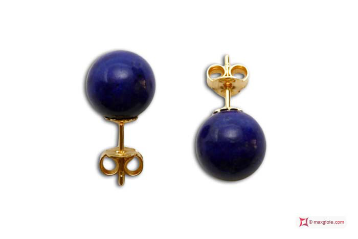 Extra Lapis Earrings 10mm in Gold 18K