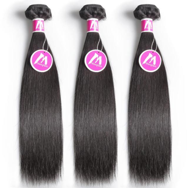 cheap virgin hair | indian hair | hair weave | straight hairstyles | long hair | human hair | 6a | black hair | 24 26 26 inch - maxglam