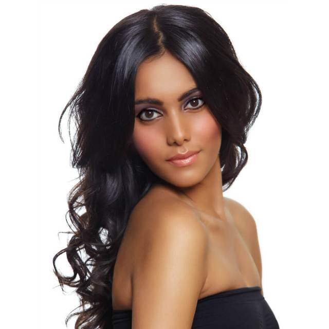 cheap full lace wigs human hair | brazilian hair | body wave hairstyles | medium length | 8a premium | black hair | 16 inch - maxglam