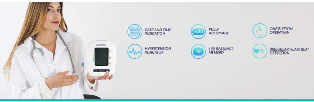 Ozocheck Fully Automatic Digital Blood Pressure and Pulse Rate Monitor