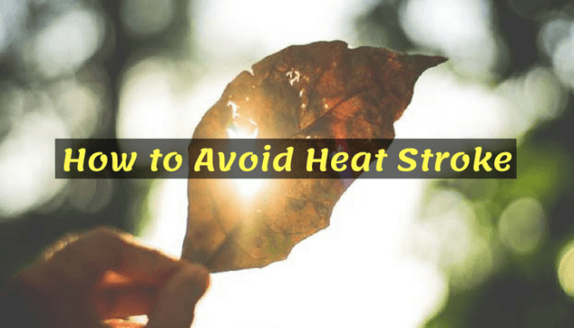 How to Avoid Heat Stroke