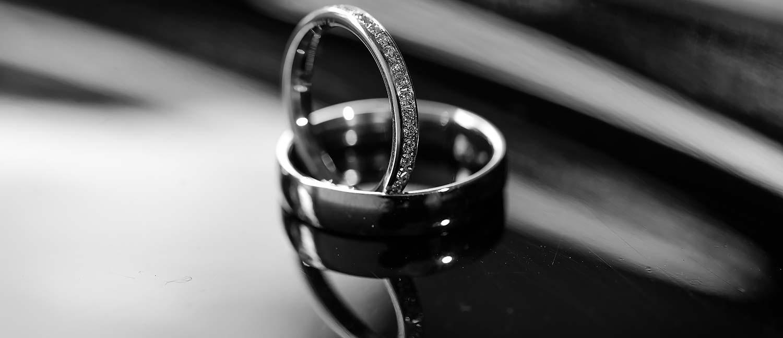 Trauringe des Brautpaars