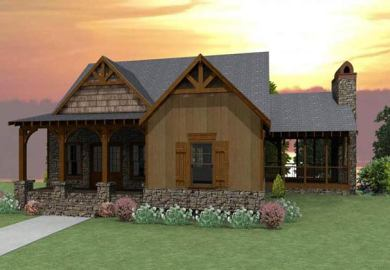 Craftsman Rustic Home Design Rustic House Plans