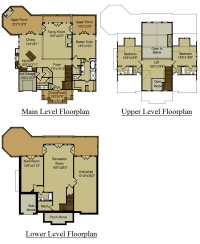 3 Story Open Mountain House Floor Plan
