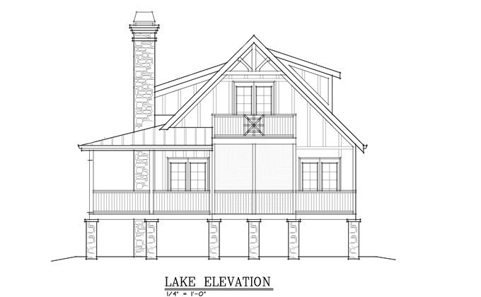 BUAT TESTING DOANG: Lakefront House Plans Narrow Lot