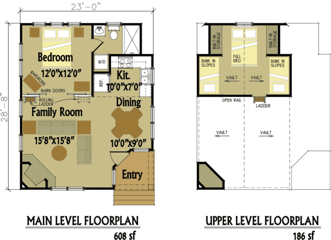Small Cabin Floorplan Design