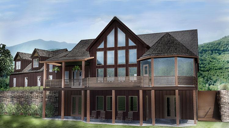 Open House Plan With 3 Car Garage Appalachia Mountain II
