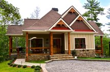 Rustic Lake Home House Plans