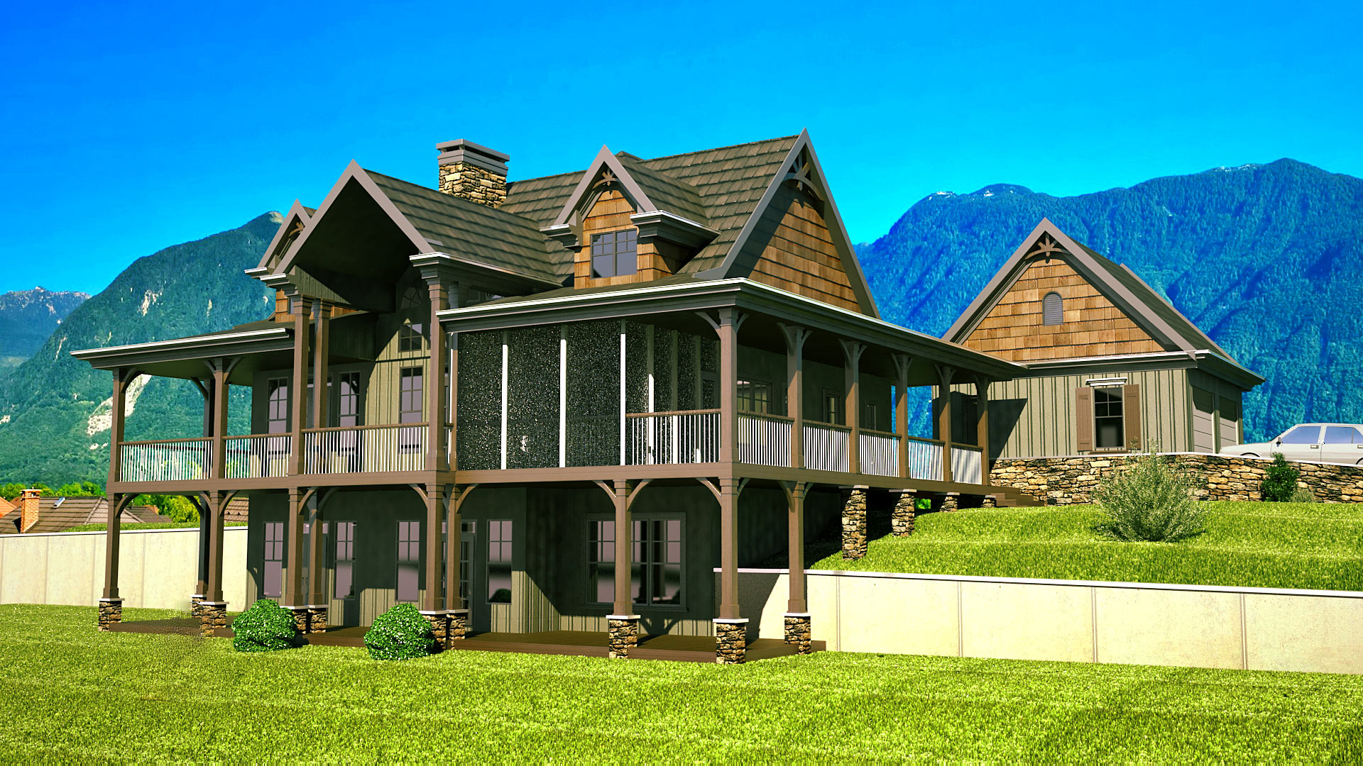 Best of porch house plans house floor ideas for Rustic house plans with wrap around porch