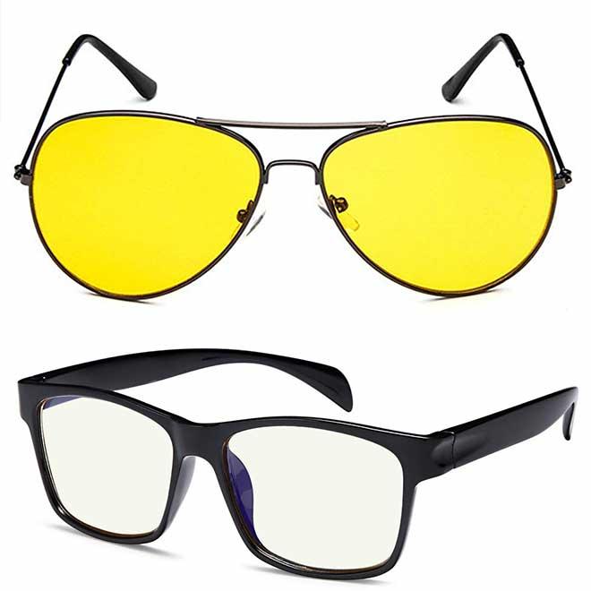 Two blue light blocking glasses