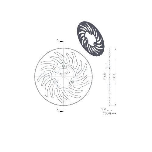 disque de frein arrière d 218 : mbk x limit yamaha dt 50 r