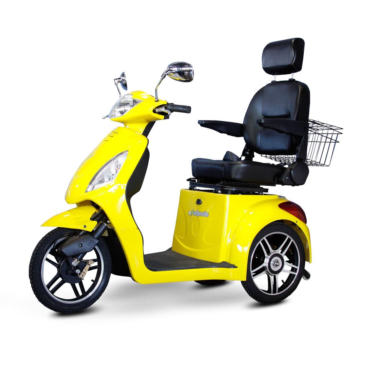 yellow wheelchair leather eames chair maxiaids e wheels ew 36 3 wheel electric senior mobility