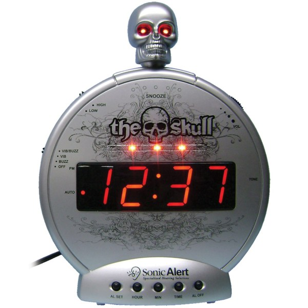 Maxiaids Skull With Bone Crusher Amplified Alarm-bed Shaker