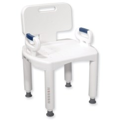 Shower Chair With Back And Arms Clear Plastic Dining Chairs Nz Maxiaids Bath Bench