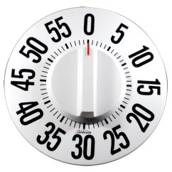 Kitchen Timer For Hearing Impaired Ikea Upper Cabinets Maxiaids | Tactile Low Vision Timer-white Dial, Black Numbers