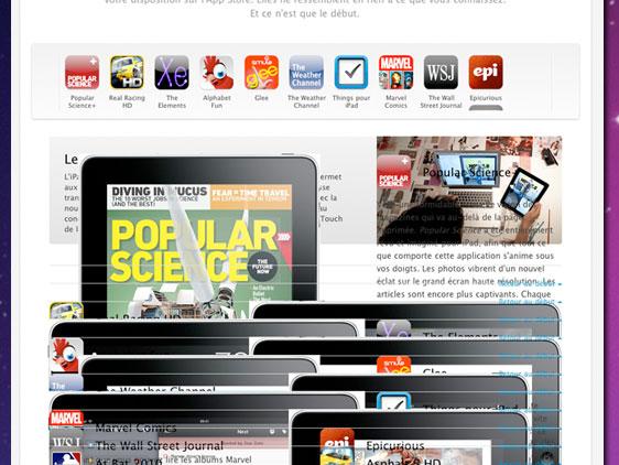 ipad applestore bug 2 Site Apple.fr : Méchant BUG dAffichage (images)