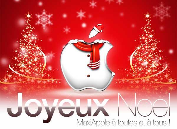 Joyeux Noel Apple.Joyeux Noel Et Bonnes Fetes Maxiapple A Toutes Et A Tous