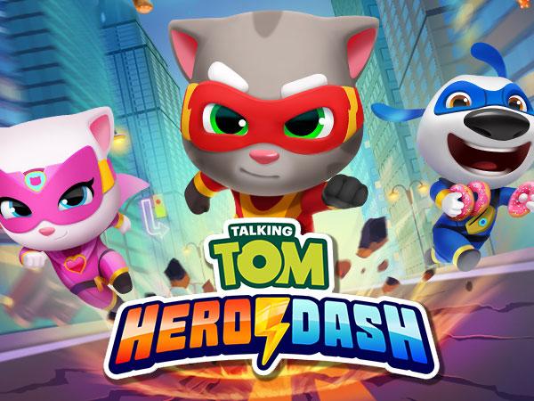 jeu video talking tom hero dash iphone ipad ipod 1 - Hero Dash iPhone iPad - Tom le Chat est plus Fort que Sonic (gratuit)
