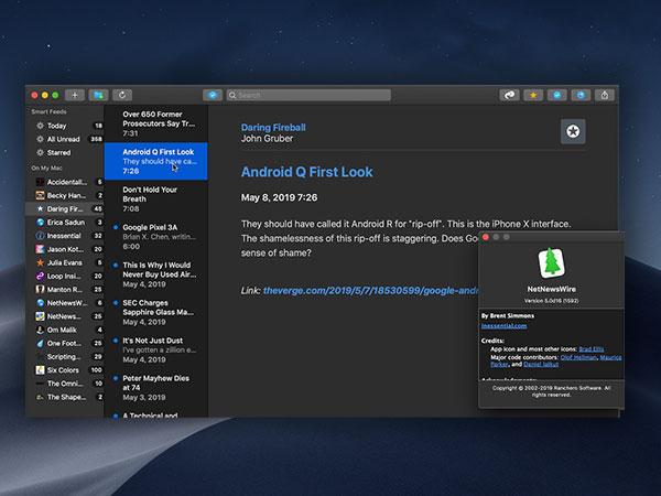 netnewswire macos mac gratuit 2 - NetNewsWire 5 Mac - Renaissance du Lecteur de Fils RSS (gratuit)