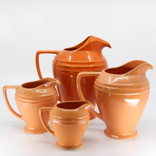Pacific Pottery Hostessware 460-459-458-464 Restyled Pitchers