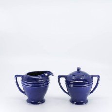 Pacific Pottery Hostessware 463-464 Restyled Creamer Sugar Pacblue