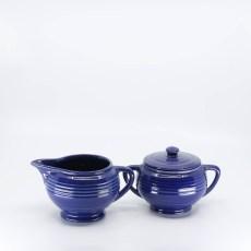 Pacific Pottery Hostessware 403-404 Creamer Sugar Pacblue