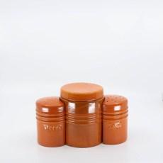Pacific Pottery Hostessware 232-233-234 Oven Range Set Red