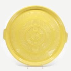 Pacific Pottery Hostessware 413 Tab Target Platter Yellow