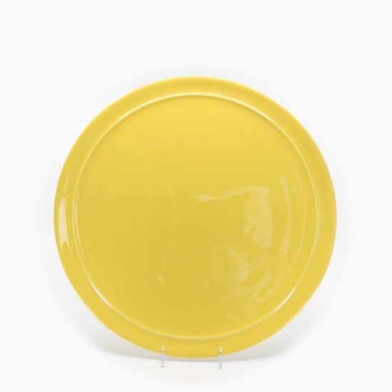 Pacific Pottery Hostessware 619 13 Cake Plate Yellow