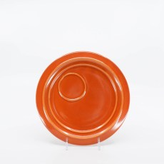 Pacific Pottery Hostessware 632 Canape Plate Red