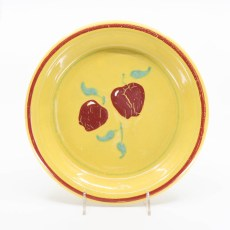 Pacific Pottery Hostessware 638 Pie Plate Dec Apple Yellow