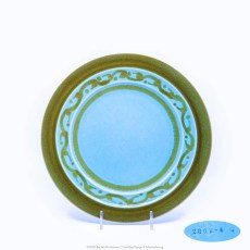 Pacific Pottery Hostessware Decorated 2002 611 Luncheon Plate Green